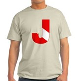 Scuba Flag Letter J Light T-Shirt