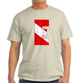 Scuba Flag Letter E Light T-Shirt