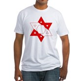 Scuba Flag Star of David Fitted T-Shirt