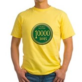 10000 Dives Milestone Yellow T-Shirt