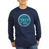 10000 Dives Milestone Long Sleeve Dark T-Shirt