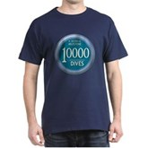 10000 Dives Milestone Dark T-Shirt