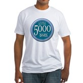 5000 Dives Milestone Fitted T-Shirt