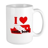 I Love Cattle Boats Large Mug