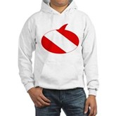 Text Bubble Dive Flag Hooded Sweatshirt