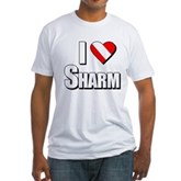 Scuba: I Love Sharm Fitted T-Shirt