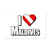 Scuba: I Love Maldives Mini Poster Print