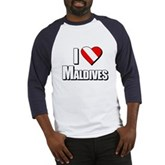 Scuba: I Love Maldives Baseball Jersey