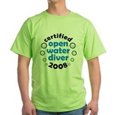 Open Water Diver 2008 Green T-Shirt