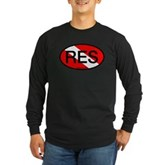 RES Oval Scuba Flag Long Sleeve Dark T-Shirt