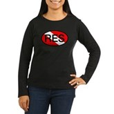 RES Oval Scuba Flag Women's Long Sleeve Dark T-Shi