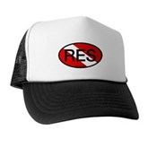 RES Oval Scuba Flag Trucker Hat