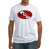 MSD Oval Dive Flag Fitted T-Shirt