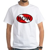BOW Oval Dive Flag White T-Shirt