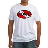 AOWD Oval Dive Flag Fitted T-Shirt