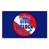 It's Dive O'Clock Somewhere Rectangle Sticker