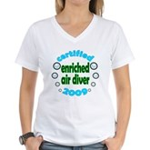 Nitrox Diver 2009 Women's V-Neck T-Shirt