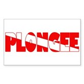 Plongee French Scuba Flag Rectangle Sticker