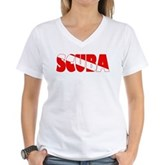 Scuba Text Flag Women's V-Neck T-Shirt