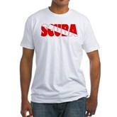 Scuba Text Flag Fitted T-Shirt