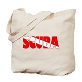 Scuba Text Flag Tote Bag