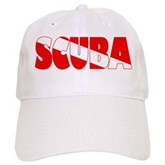 Scuba Text Flag Cap
