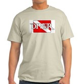 Pirate-style Diver Flag Light T-Shirt