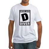 Rated D: Diver Fitted T-Shirt