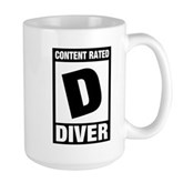 Rated D: Diver Large Mug