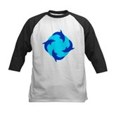 Dolphin Ring Kids Baseball Jersey