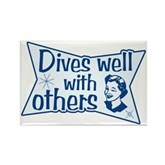 Dives Well With Others Rectangle Magnet