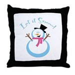 Snowman Throw Pillow
