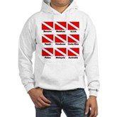 Dive Flags of the World Hooded Sweatshirt