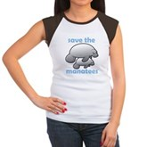 Save the Manatees Women's Cap Sleeve T-Shirt